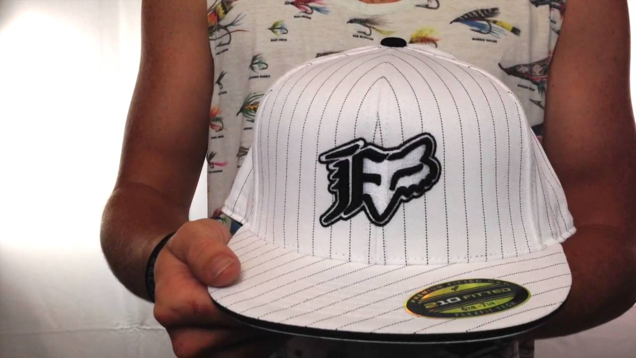 Fox  VIP STRIPE  White 210 Fitted Hat by Flexfit - YouTube 637a2919d7df