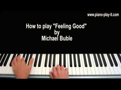 Feeling Good Piano Tutorial Michael Buble Nina Simone