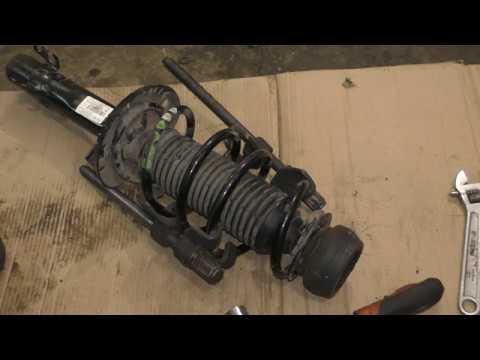 VW Polo и Skoda Rapid - замена передних стоек, пружин, опор и опорных подшипников
