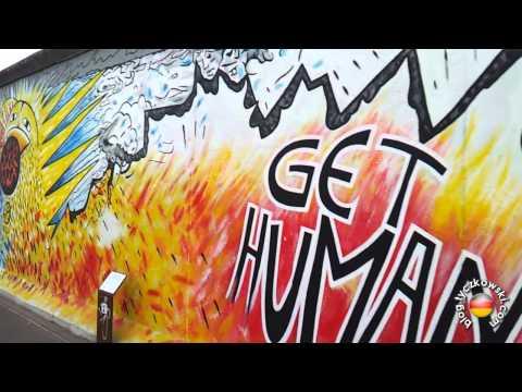 East Side Gallery Berlin - Mur Berliński - Graffiti [HD]