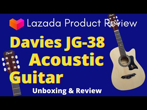Davis Jg38 Acoustic Guitar Black Unpacking Lazada Philippines