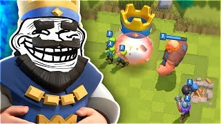 LEVEL 1 NOOB TROLLING IN CLASH ROYALE!!!