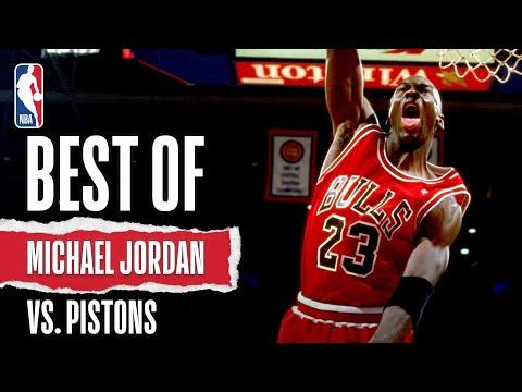 MJ's BEST Battles Against The Bad Boy Pistons!