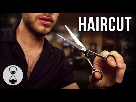 ASMR HAIRCUT ROLEPLAY | Scissors, Comb, Hair Wash, Head Massage & Male Whispering (Binaural)