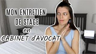 STORYTIME : Mon Entretien de Stage I Cabinet d'Avocats au Luxembourg (Master 2)