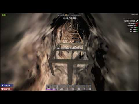 Ep 135 TNT Tunneling & Mining For Coal 7 Days To Die Alpha 15