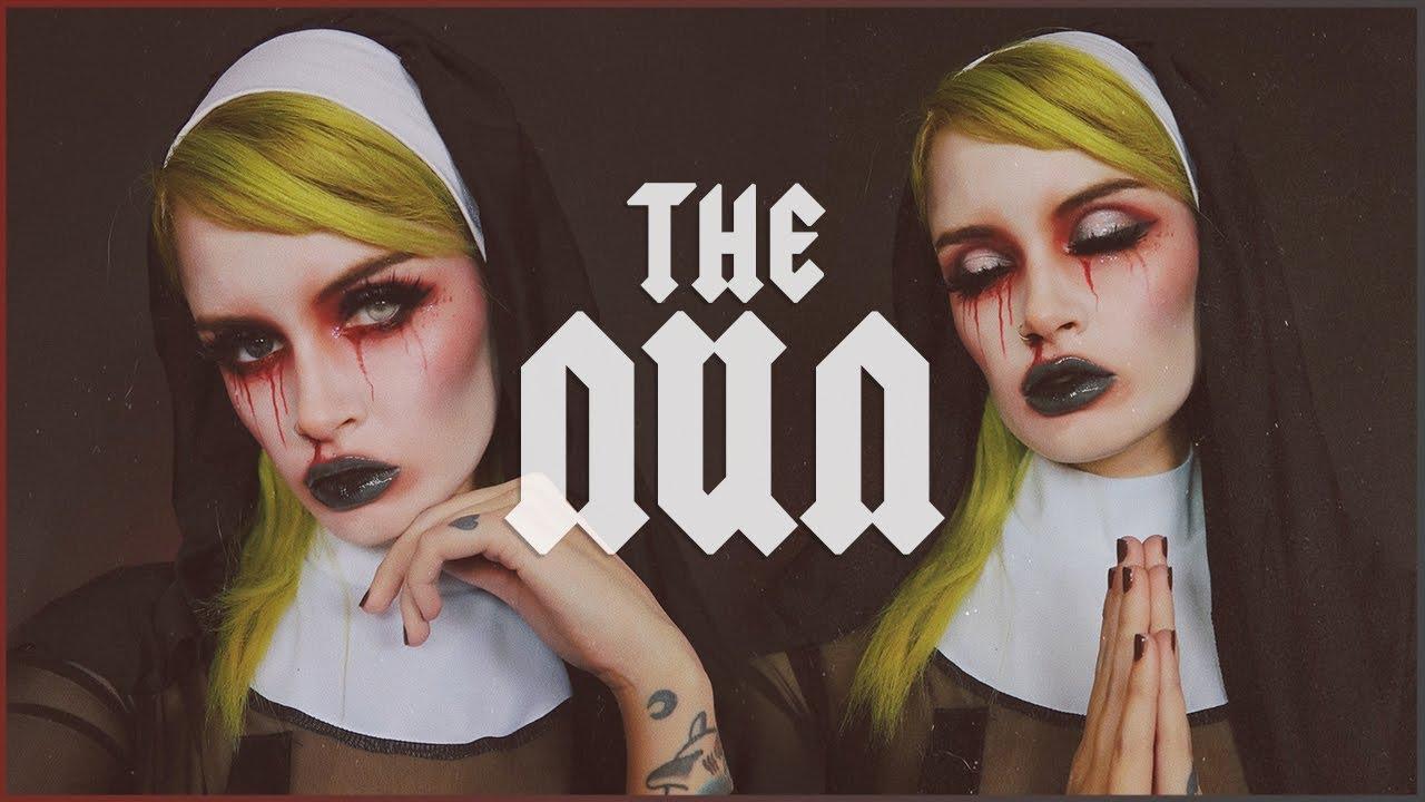 The Nun Halloween Makeup Tutorial Youtube - Halloween-makeup-tutorial
