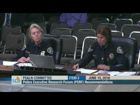 SDPD PERF Recommendation Update | SD City Council 6 15 16