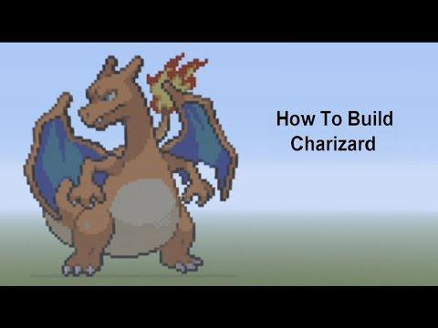 Minecraft Pixel Art Tutorial - Charizard (Pokemon) - YouTube