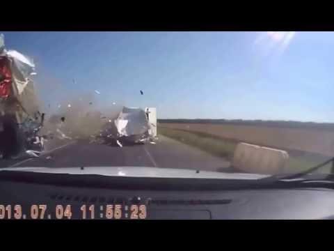 Страшные аварии на дорогах заснятых на видеорегистратор