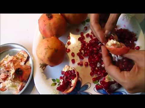 Fastest Way to deseed a Pomegranate(Anar)   How to Cut and Open a Pomegranate