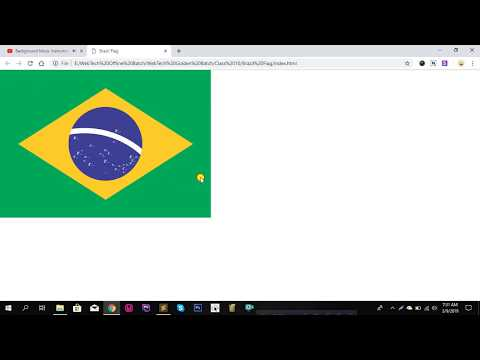 Brazil Flag | Html Css { Code Available In Description }