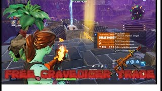 FREE GRAVEDIGGER TRADE FOR FIBROUS HERBS FORTNITE SAVE THE WORD