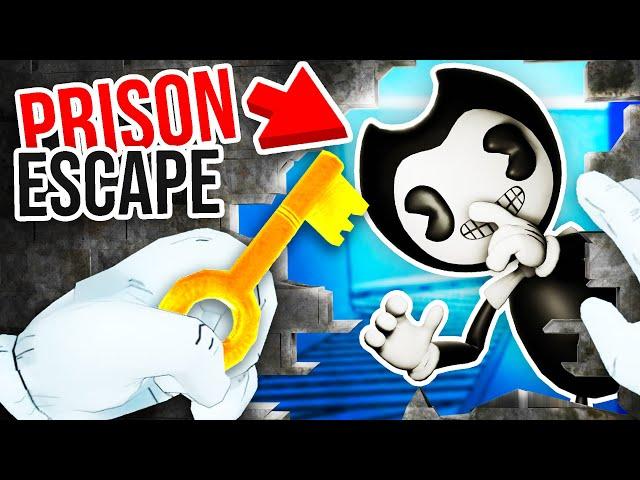 BENDY is BACK to HELP ME ESCAPE PRISON!!?! (Prison Boss Bendy BATIM VR)