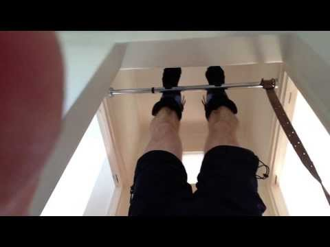 Spinal decompression with Teeter Gravity Boots