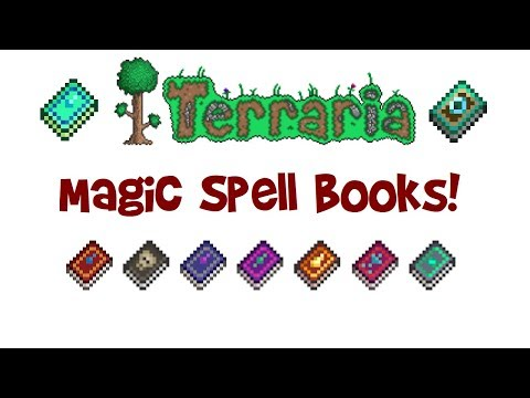 Terraria Magic Weapons Guide: ALL Spell Books (Tome Recipes/Enchanting, List & Stats For Mage Class)