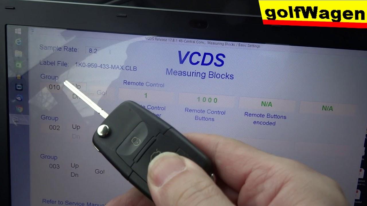 vw golf 5 remote control buttons test vcds vag 46 ksg pq35 g2 youtube. Black Bedroom Furniture Sets. Home Design Ideas