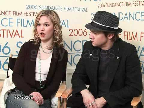 Julia Stiles and Jeremy Renner at the 2006 Sundance Film Festival WireImage 1