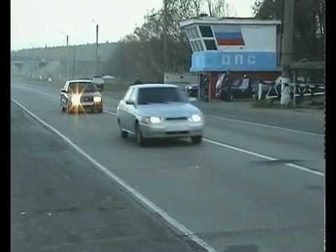 Как в Брянске останавливают автомобили на посту ДПС