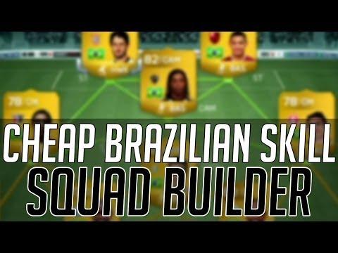 THE AFFORDABLE BRAZIL SKILL SQUAD (CHEAP) | FIFA 14 Ultimate Team Squad Builder (FUT 14)