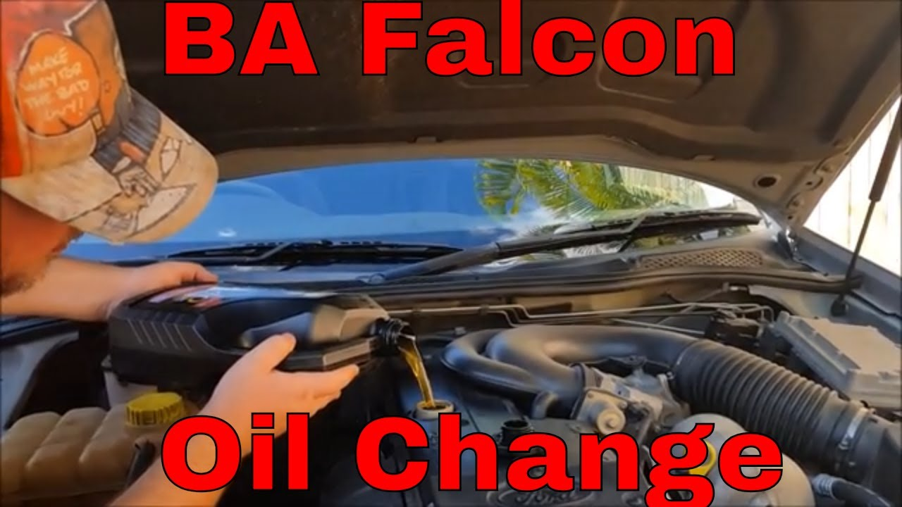Ba Falcon Oil Change And Oil Filter Service Youtube