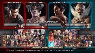 Tekken Tag Tournament 2 All Characters (Including DLC) [PS3]