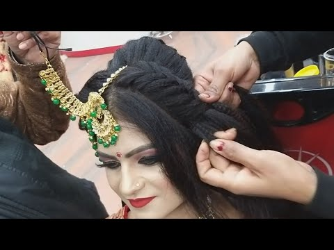 real-bridal-juda-hairstyle-for-short-&-thin-hair-for-beginners//-step-by-step-easy-&-simple-method