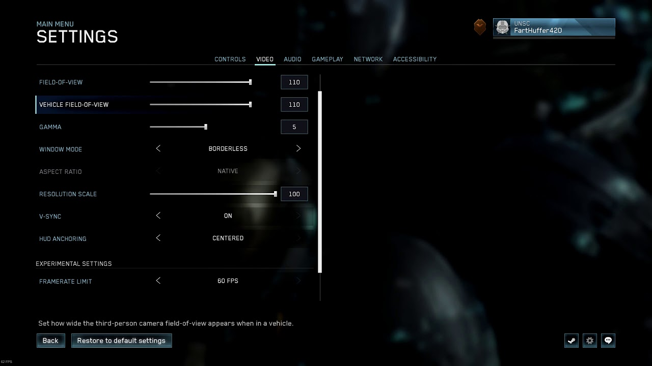 Halo The Master Chief Collection Settings