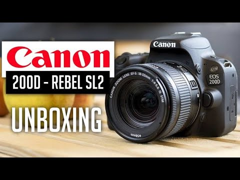 Canon EOS 200D / Rebel SL2 UNBOXING, Hands on , Review With Sample Picture & Video