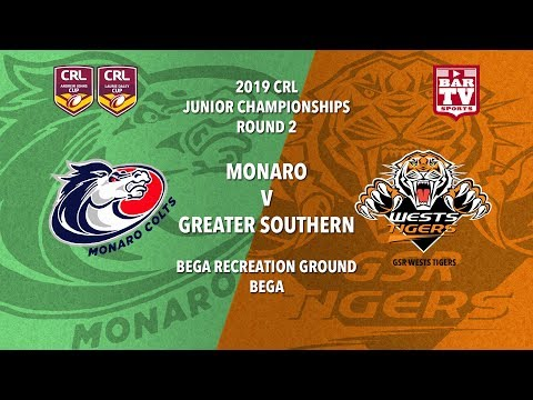 2019 Country Rugby League Rep - Johns and Daley Cup - Round 2 - Colts v GSR Tigers