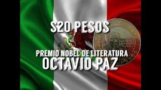 PRECIO $20 Pesos Octavio Paz Premio Nobel  CIRCULADA / Monedas de Mexico / Monedas mexicanas