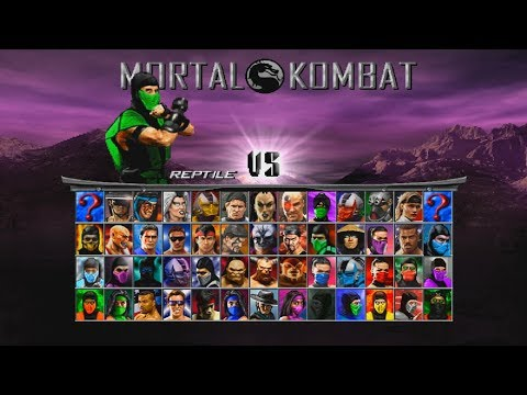 Mortal Kombat Project 4.1 (Mugen) - Reptile MK2 Playthrough
