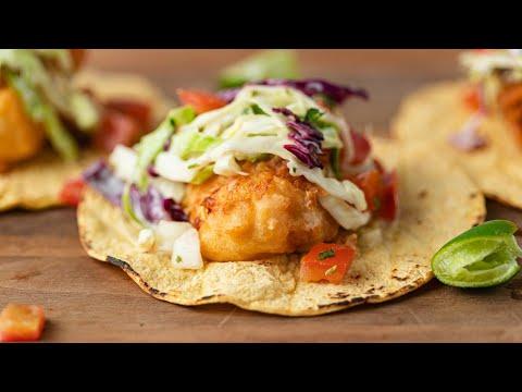 Crispy Baja Style Fish Tacos