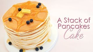 How to decorate a cake to look like a stack of Pancakes - Cake Decorating