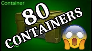 TANKI ONLINE - ABRINDO CONTAINERS #40 (80 CONTAINERS) OPENING CONTAINERS