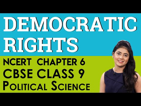Democratic Rights Political Science Chapter 6 CBSE NCERT Class 9 IX Social Science
