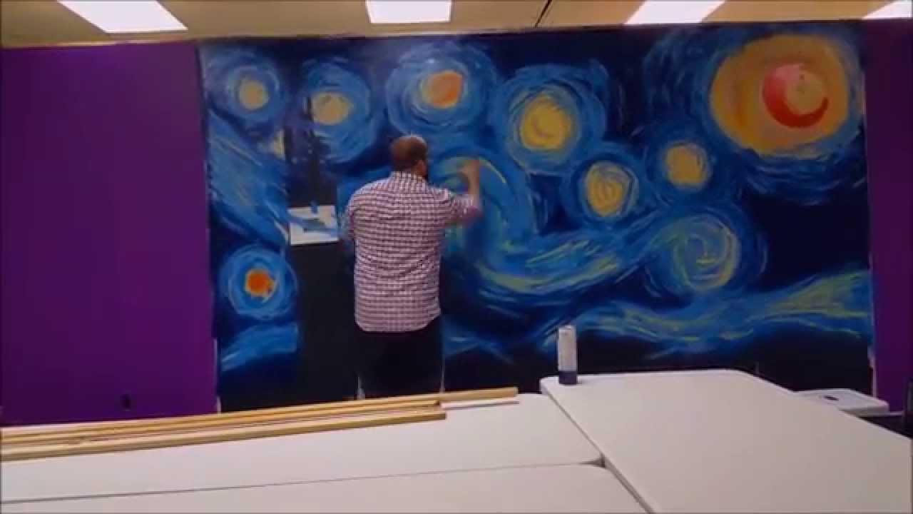 Hepherson Starry Night Mural   Sipu0027n Paint Studio Part 74