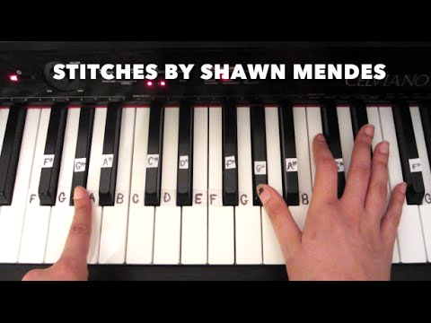 How to play Stitches - Shawn Mendes EASY PIANO tutorial