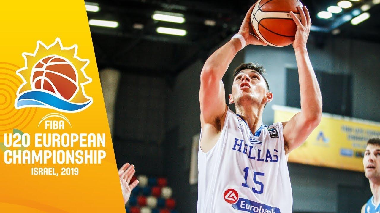 Ukraine v Greece - Full Game - FIBA U20 European Championship 2019