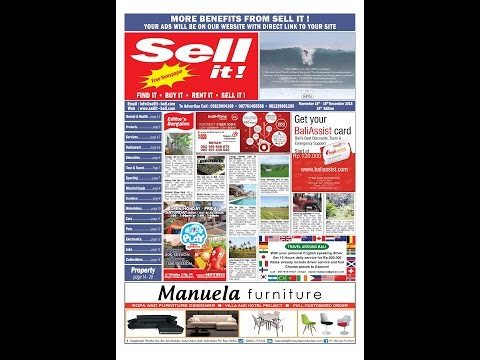 Sell it! Newspaper Bali . November 2015. 24th Edition