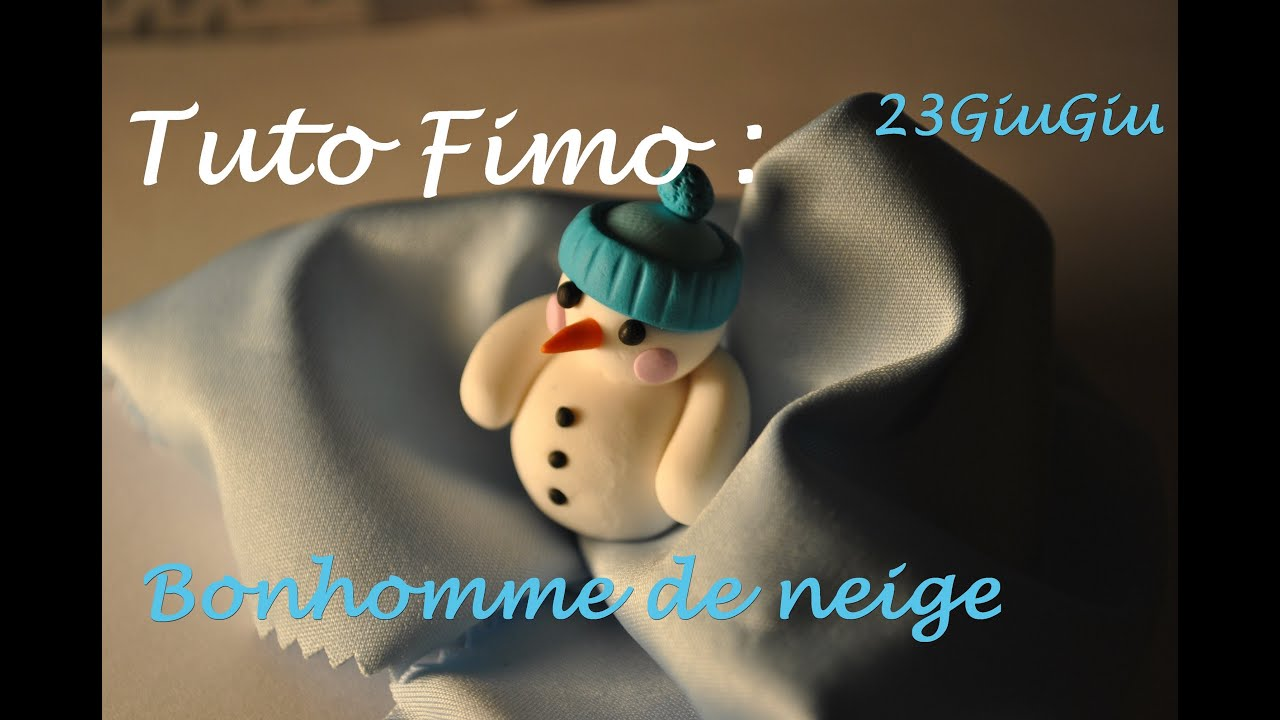 Tuto fimo noel le bonhomme de neige youtube - Decoration noel pate fimo ...