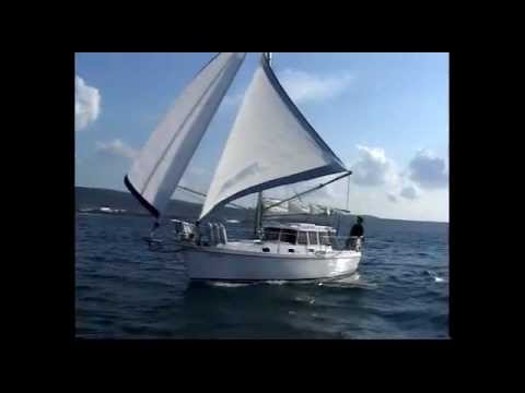 Self steering Yacht HABER 800C4 - sailing on the Adriatic sea