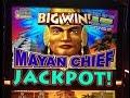 **BIG JACKPOT** MAYAN CHIEF slot machine Bonus HANDPAY WIN