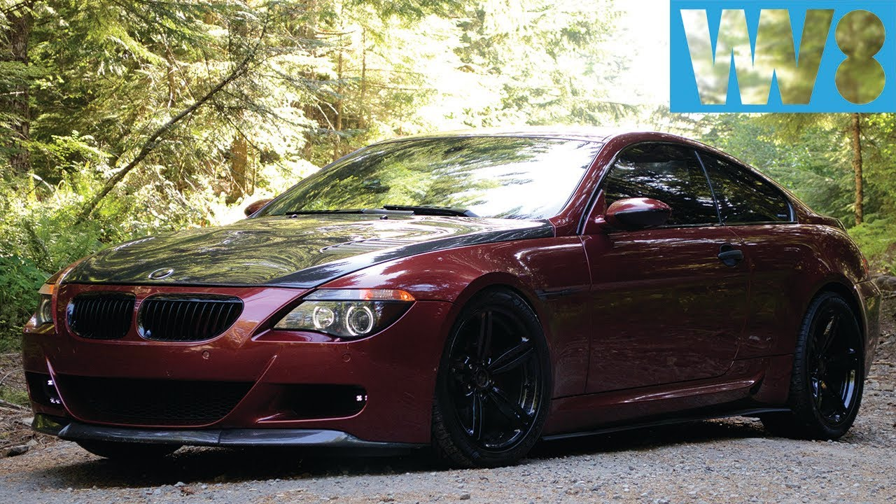bmw e63 m6 v10 with csl carbon and custom exhaust youtube. Black Bedroom Furniture Sets. Home Design Ideas