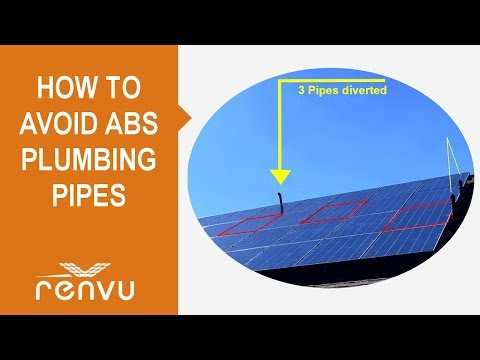 How to Avoid ABS Plumbing Pipes When Installing Solar Panels | RENVU