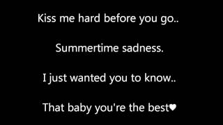 Summertime Sadness cover by Shawn Mendes lyrics