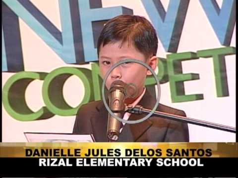 ABS CBN Iloilo   Newscasting Competition 2013   VTR   Elementary English Finalists