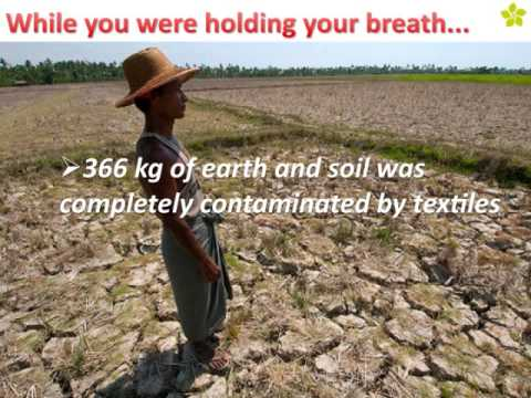 Textile Industry poses Environmental Hazards just in 10 seconds