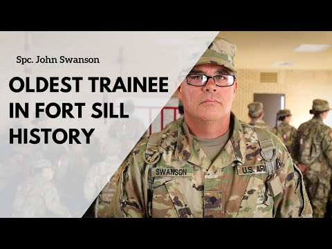 Oldest Trainee In Fort Sill History