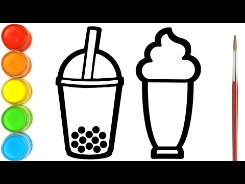 Download Menggambar Dan Mewarnai Minuman Boba, Susu Kocok dan Ice cream   Ara Plays Art